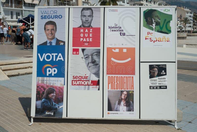 西班牙2019年议会竞选 库存照片