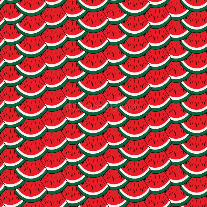 西瓜五颜六色的无缝的样式 免版税库存图片
