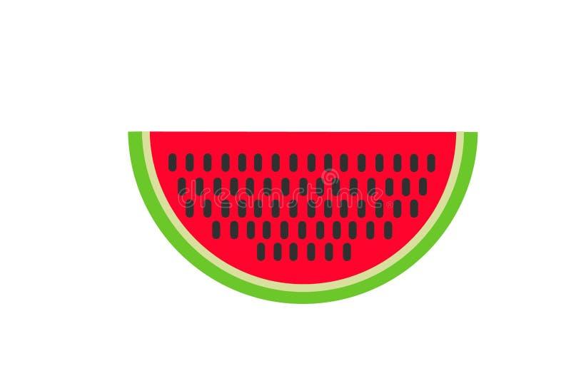 西瓜传染媒介 美满的果子石榴红色种子夏天 可口食物 库存例证