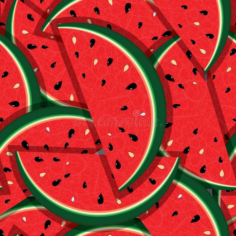 新切片红色西瓜 皇族释放例证