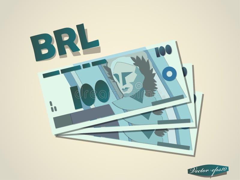 巴西真正的金钱报纸最小的向量图形设计 向量例证