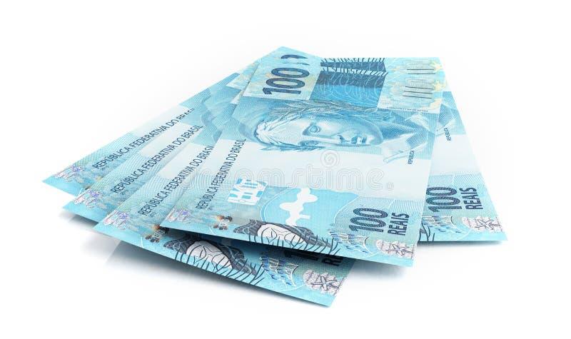 巴西真正的钞票 皇族释放例证