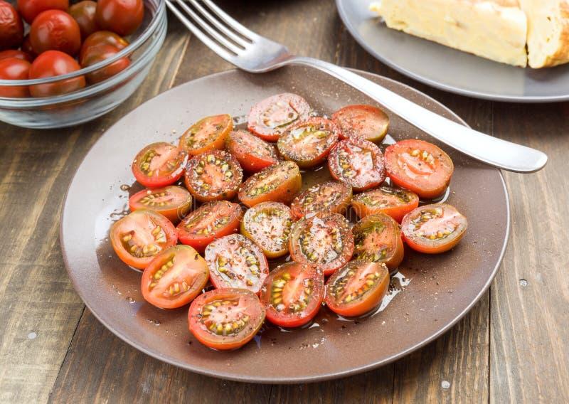 西红柿裁减沙拉 库存图片