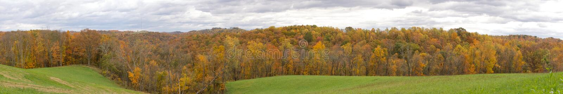 西维吉尼亚全景小山  免版税图库摄影