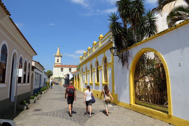 巴西老镇 免版税库存照片