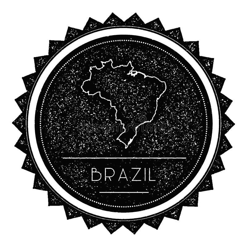 巴西联邦共和国地图标签与 向量例证