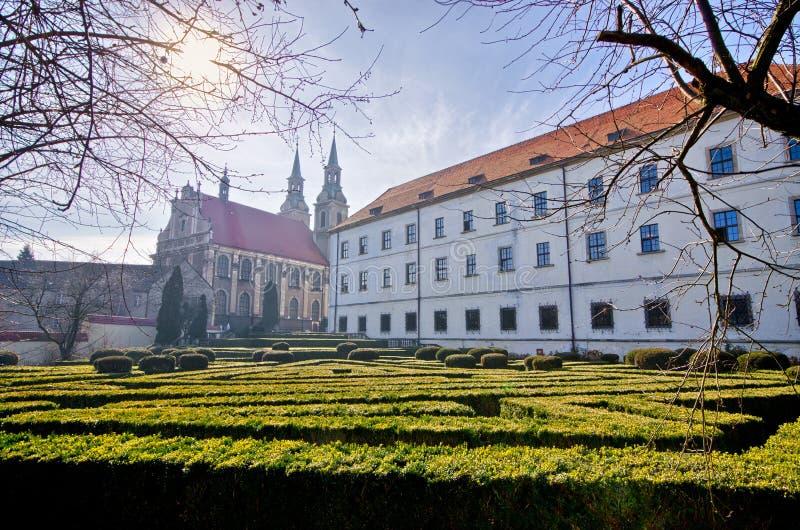 西莱亚西Piast朝代城堡在布热格,波兰 库存图片