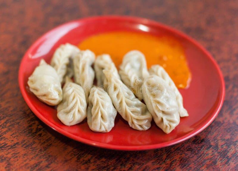 西藏人Momo饺子 库存图片