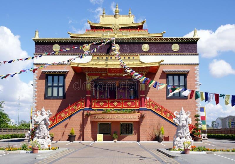 西藏人Thrangu修道院里士满,加拿大 库存图片