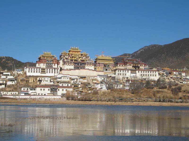 西藏修道院在Zhongdian 免版税库存照片