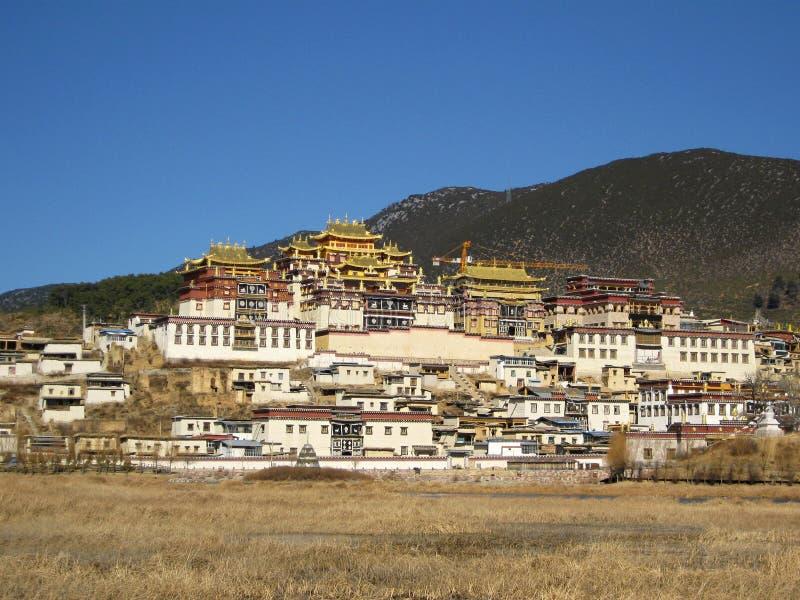西藏修道院在Zhongdian 免版税库存图片