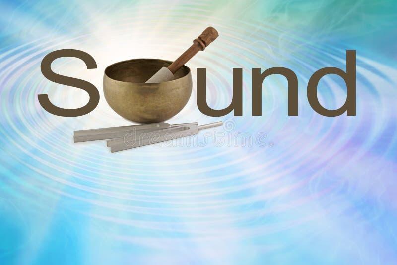 西藏唱歌碗的声音 免版税库存照片