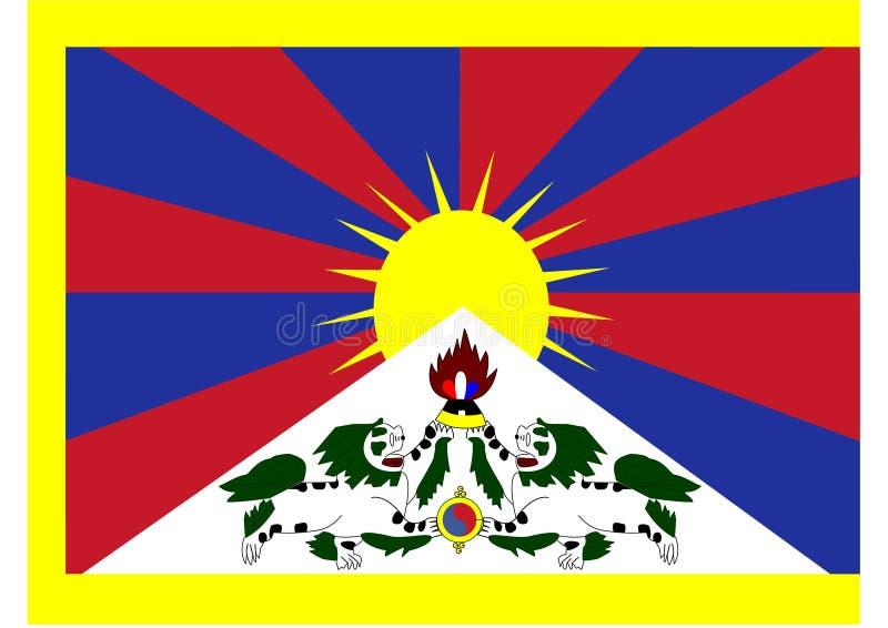 西藏国旗 向量例证