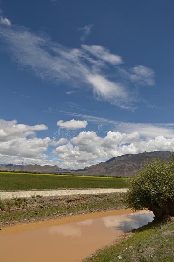 西藏天空 免版税库存图片