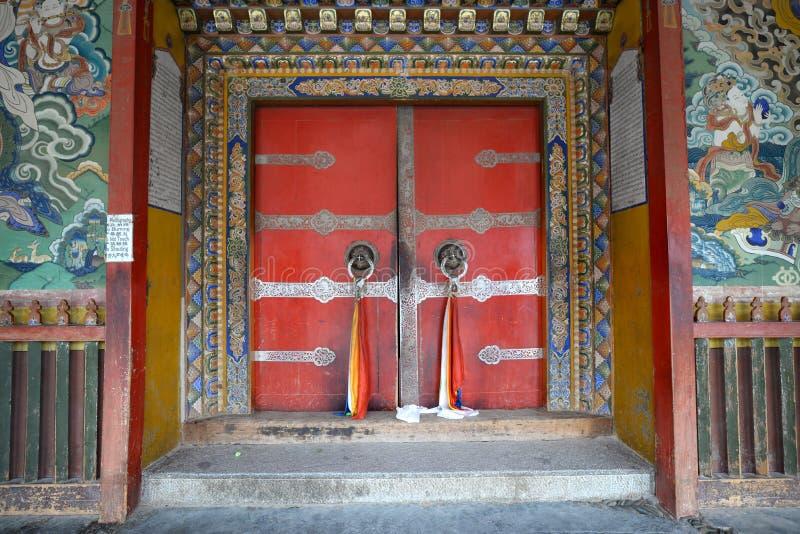 西藏寺庙门 图库摄影