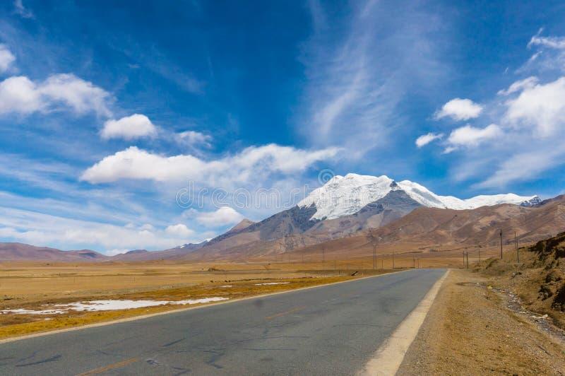 西藏路 免版税库存图片