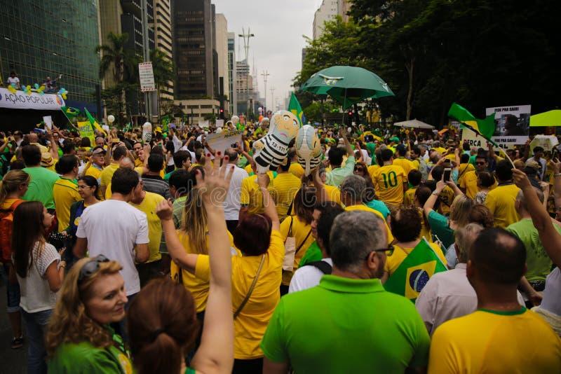 巴西街道抗议 库存图片