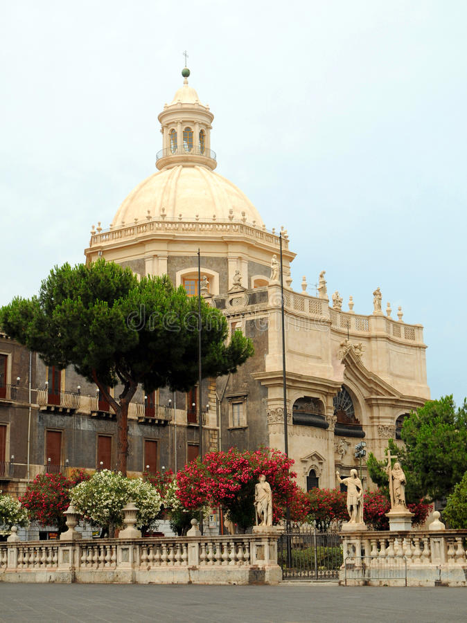 西西里人巴洛克式的教会 库存照片