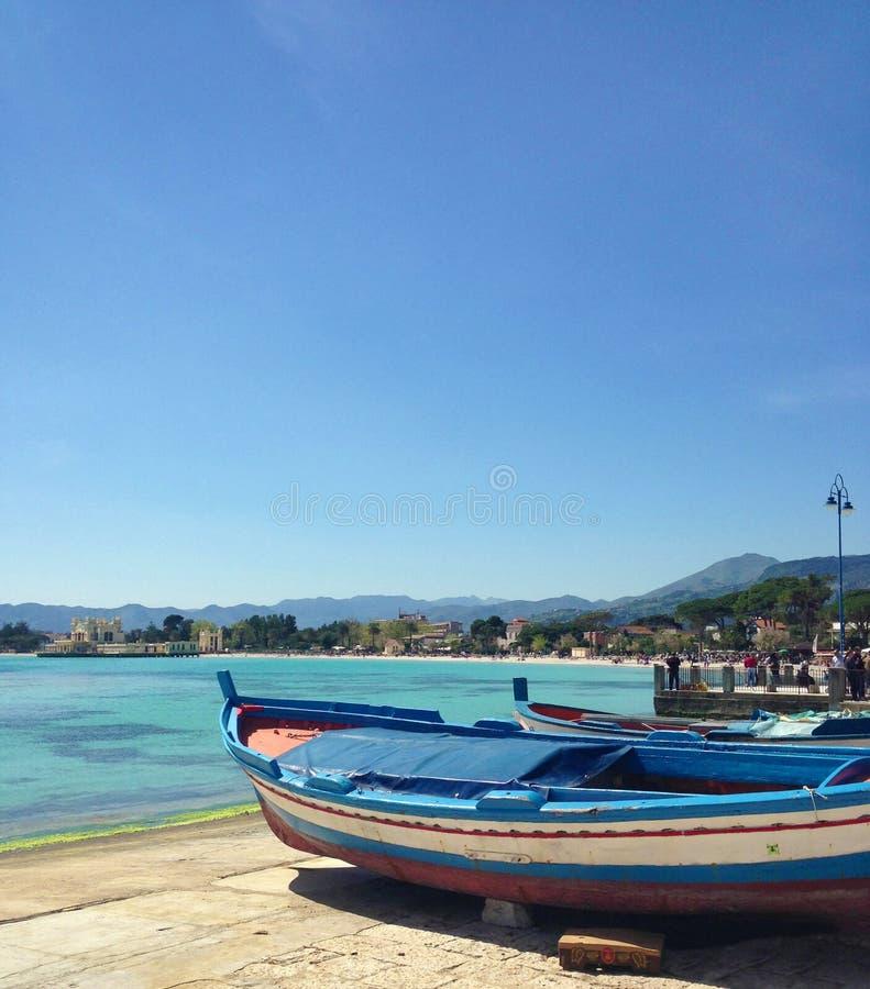 西西里人的小船 免版税图库摄影