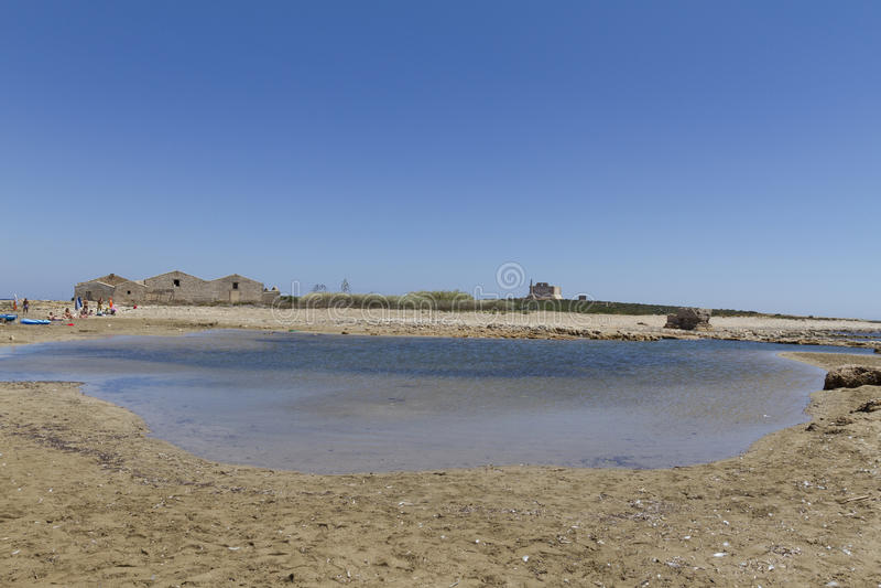 西西里人的海 库存图片