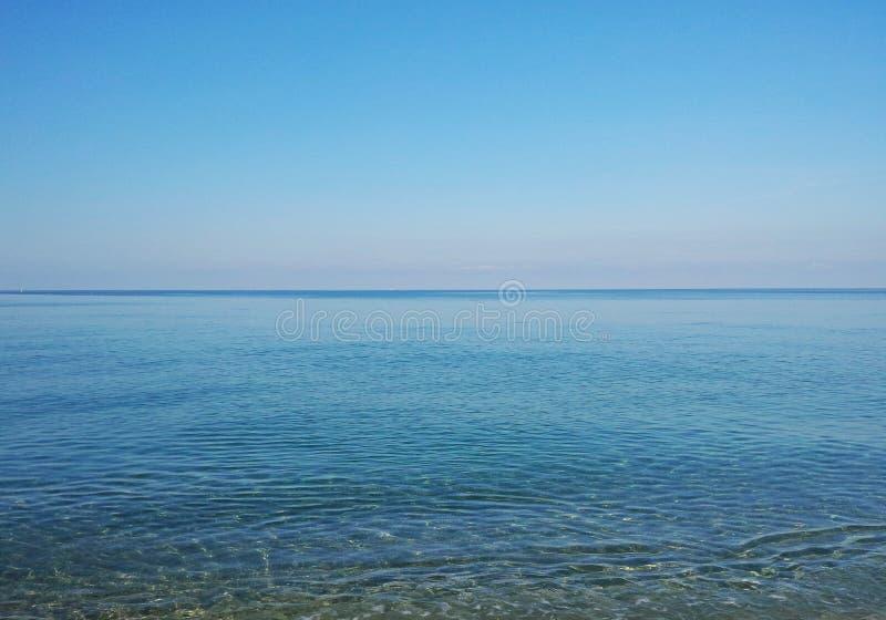 西西里人的海 免版税库存照片