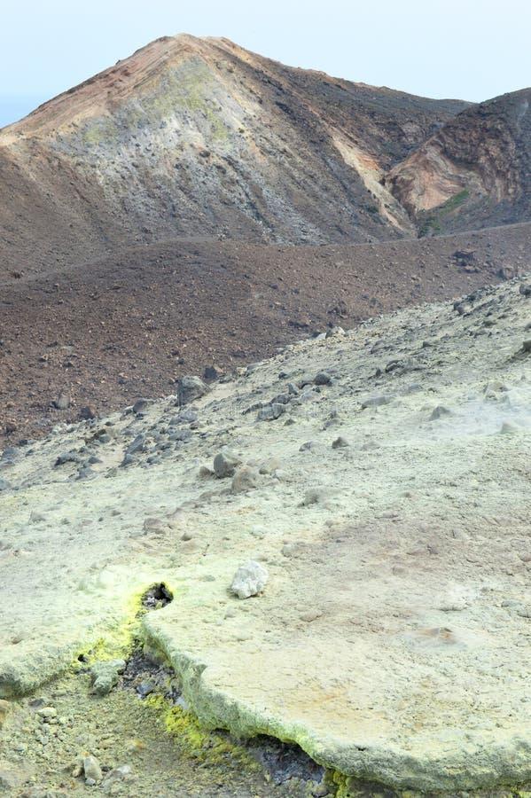 西西里岛硫磺岛火山岩 库存图片