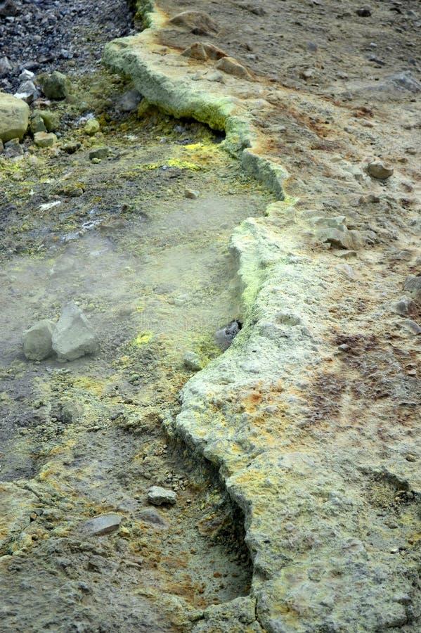 西西里岛硫磺岛火山岩 图库摄影