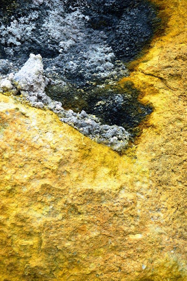 西西里岛硫磺岛火山岩 库存照片
