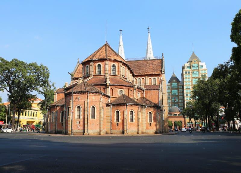 西贡巴黎圣母院,胡志明市 免版税库存照片