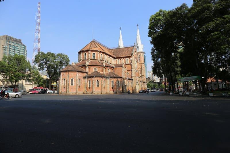 西贡巴黎圣母院,胡志明市 图库摄影