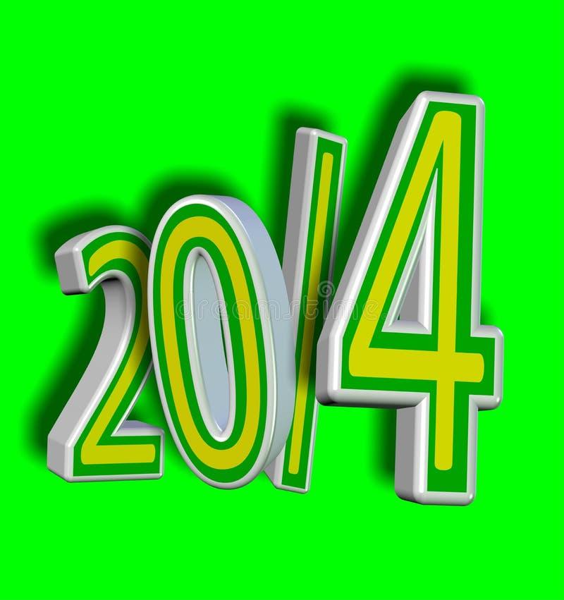 2014年巴西足球年! 向量例证