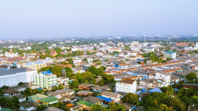 西边曼谷都市风景鸟瞰图  库存照片