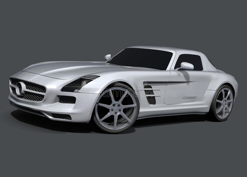 默西迪丝SLS AMG跑车 向量例证