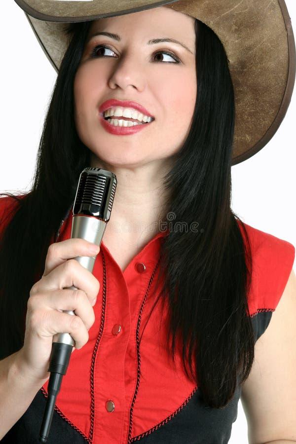 西部乡村音乐的歌唱家 库存图片