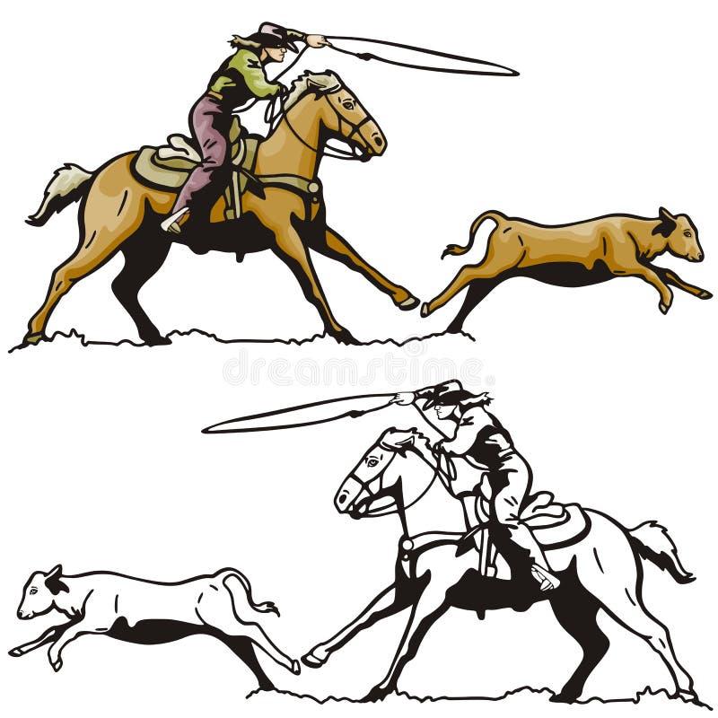 西部例证的系列 皇族释放例证