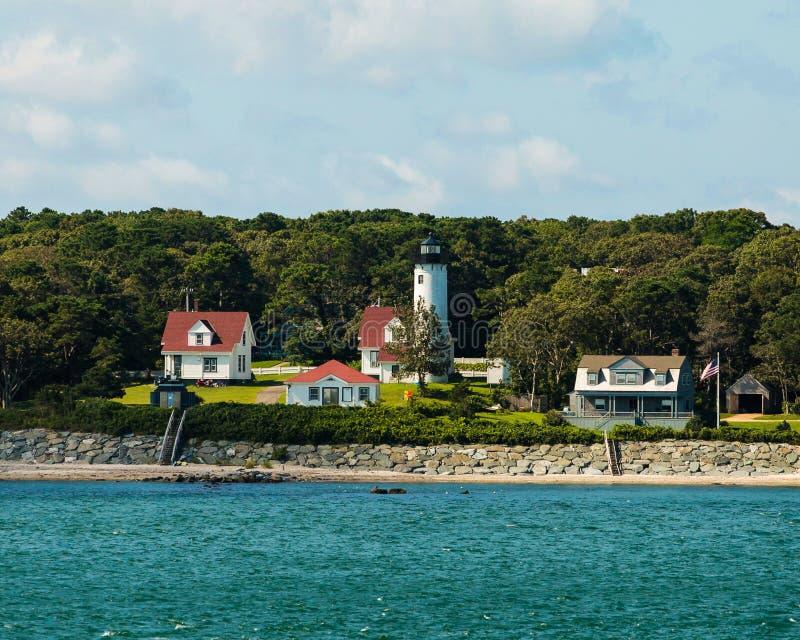 西部剁灯塔,马萨葡萄园岛,麻省 库存照片