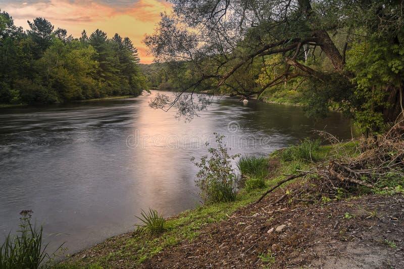 西部加拿大小河 图库摄影