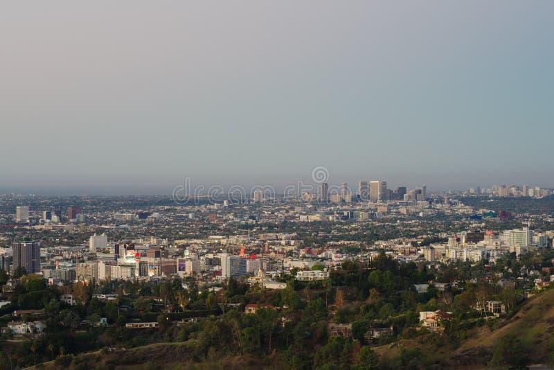 西部好莱坞看法从Griffth观测所的 库存照片