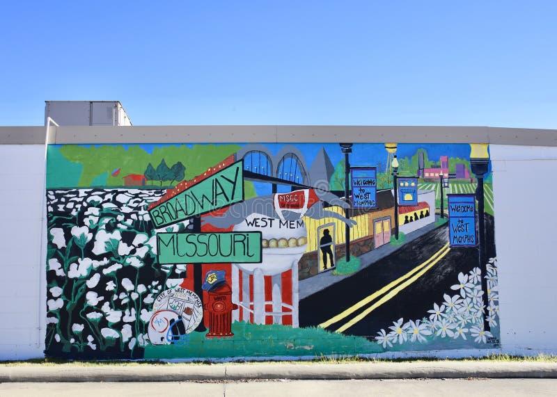 西部孟菲斯阿肯色绘画 库存图片
