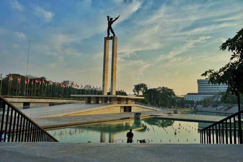 西部巴布亚,雅加达-印度尼西亚的解放纪念碑 库存照片