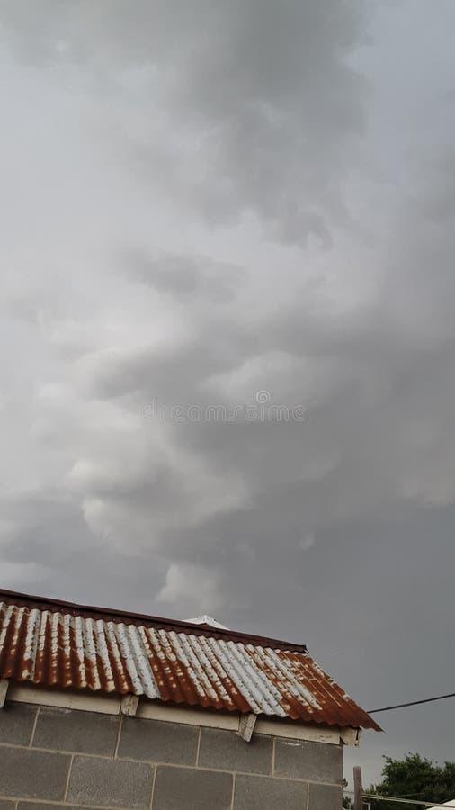 西部得克萨斯风雨如磐的skys 库存照片