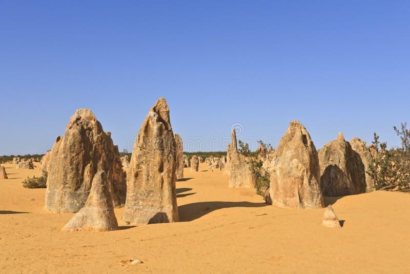 西部澳洲的石峰 免版税库存照片