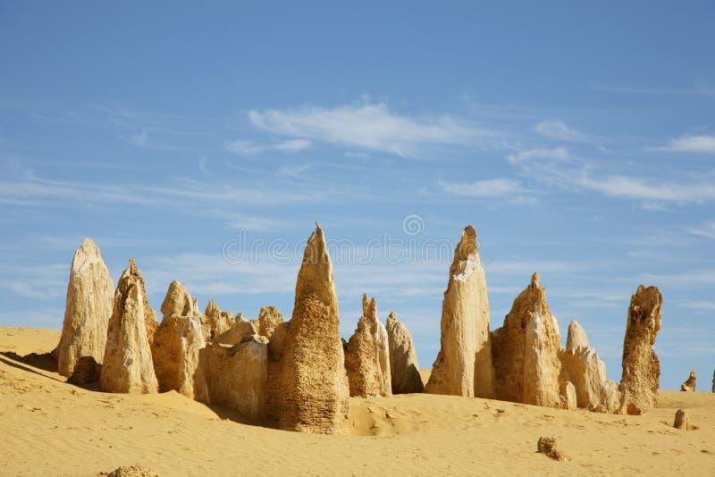 西部澳洲的石峰 图库摄影