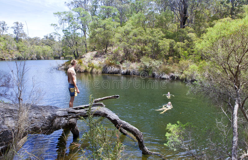 西部澳洲margaret的河 免版税库存照片