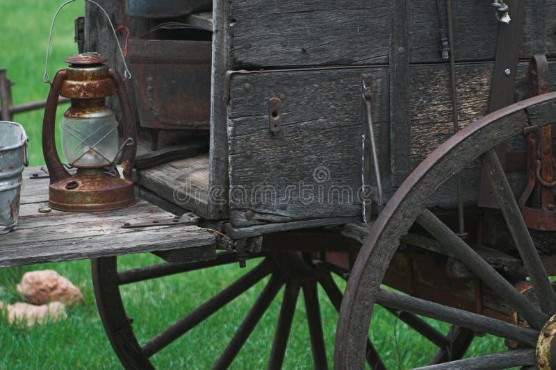西部牛颈肉老的无盖货车 库存照片