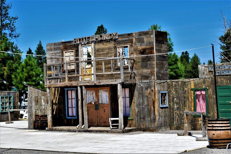 西部的城镇 免版税库存照片