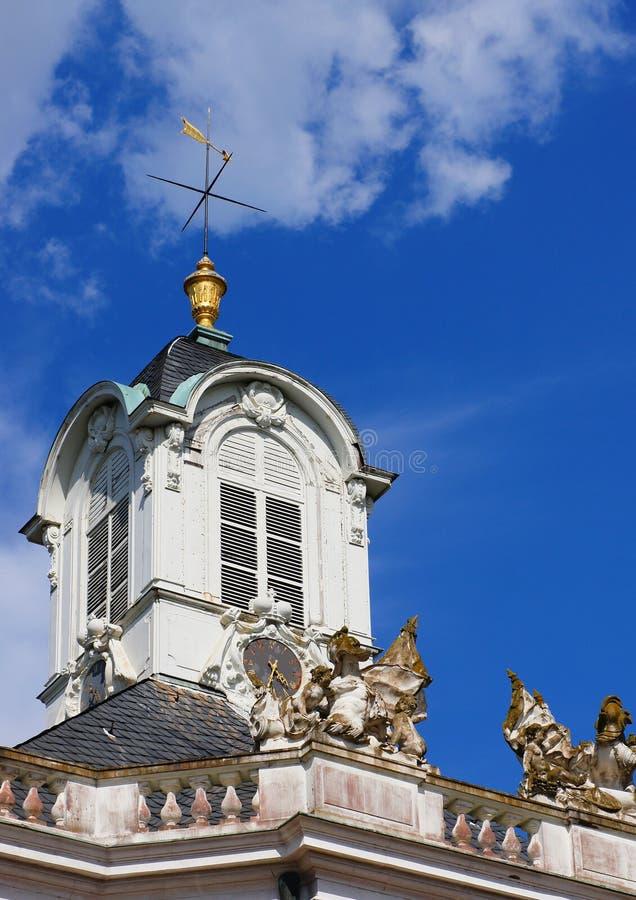 西部翼城堡在卡尔斯鲁厄 库存图片