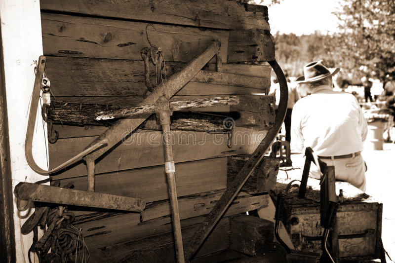西部老的城镇 免版税库存照片