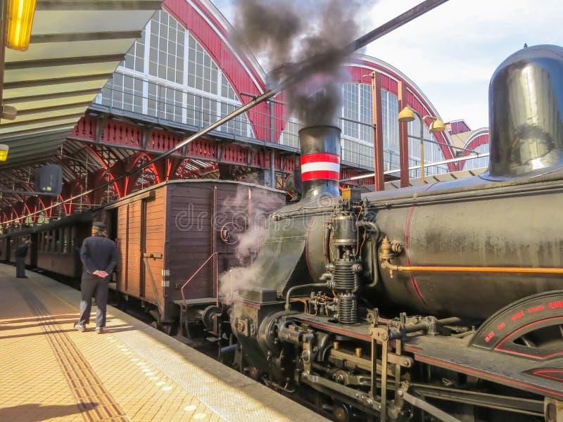 西部西兰葡萄酒火车 免版税库存图片
