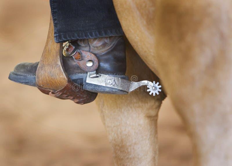 西部踢马刺的马镫 库存图片